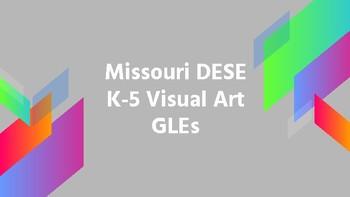 Missouri Visual Art GLEs by Grade Level (K-5)