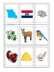 Missouri themed Memory Matching and Word Matching preschool curriculum game
