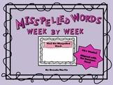 Misspelled Words Week to Week