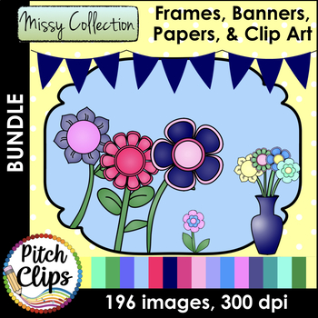 Missy Collection Seller's Kit {BUNDLE} - Papers, Frames, Banners, Flags, & More!