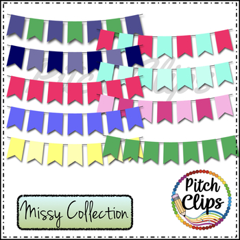 Missy Collection - 196 Pre-made Bunting, 4 styles, 17 colors & mixed!