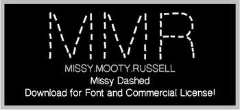 Missy Dashed Font {Commercial & Personal Use!}