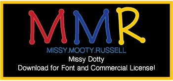 Missy Dotty Font {Commercial & Personal Use!}