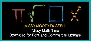 Missy Math Time Font {Commercial & Personal Use!}