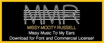 Missy Music To My Ears Font {Commercial & Personal Use!}