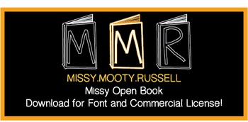 Missy Open Book Font {Commercial & Personal Use!}