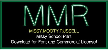 Missy School Print Font {Commercial & Personal Use!}
