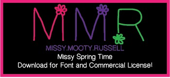 Missy Spring Time Font {Commercial & Personal Use!}