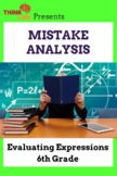 Mistake Analysis: Expressions and Equations 6th Grade
