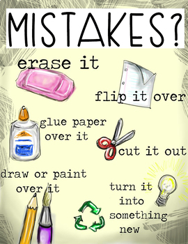 Art or Classroom Recycle Mistakes Poster