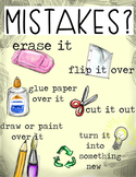 Art or Classroom Recycle Mistakes Poster - Printer Friendl