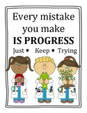 Mistake is Progress Sign