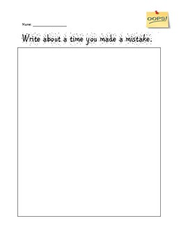 Mistake writing prompt