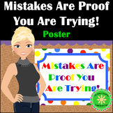 Mistakes Growth Mindset Poster