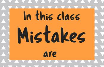 Mistakes Poster Set