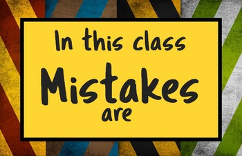 Mistakes Poster set-Harry Potter house colors