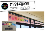 Mistakes Quote Display