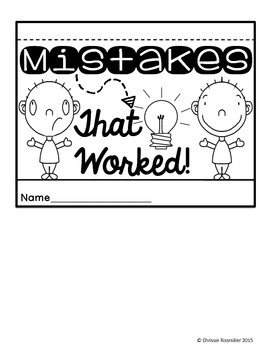 Mistakes That Worked! Cause and Effect Flip Book