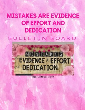 Mistakes are Evidence... Bulletin Board