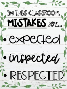 Mistakes are Expected, Inspected, and Respected Poster