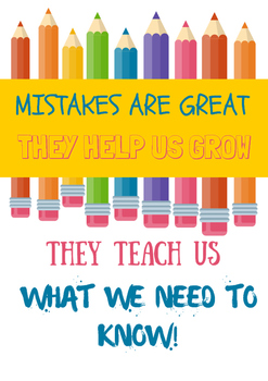 Mistakes are Great Poster