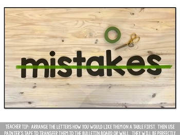 Mistakes are Magical Bulletin Board