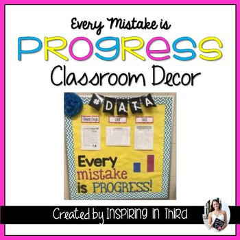 Mistakes are Progress Classroom Decor