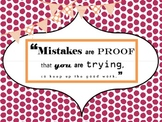 Mistakes are Proof Motivational Poster