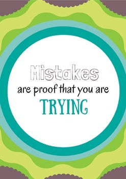 Mistakes are Proof that you are Trying inspirational poste