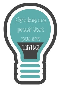 Mistakes are Proof that you are Trying inspirational poster for counselors