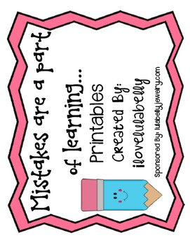 Mistakes are a Part of Learning Printables - Freebies