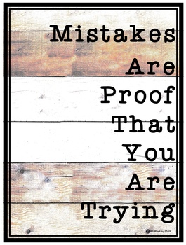 Mistakes are proof that you are learning poster farmhouse style