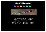 Mistakes Are Proof You Are Trying- banner quote