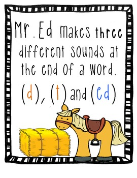 Mister Ed Reading and Spelling Rules - Anchor Charts