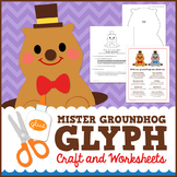 Groundhog Day Math Activity - Glyph Craft with Worksheets