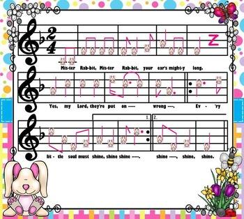 Mister Rabbit; An Afr.Amer. Spiritual: Tam-Ti & Syncopa (SMART NOTEBOOK Edition)