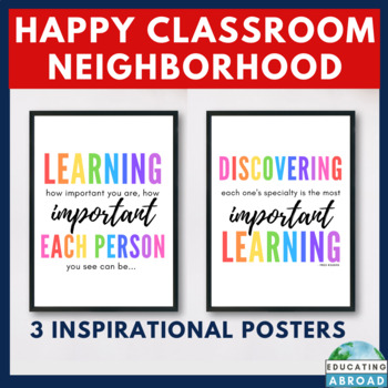 Mister Rogers Inspired Class Decor, EDITABLE Templates & Quotes for POWERPOINT