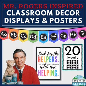 Mister Rogers Inspirational Class Organization Decor Banners Posters Quotes