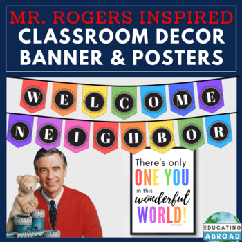 Mister Rogers Inspired Class Decor Banner Inspirational Quote Posters