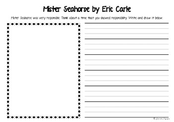 Mister Seahorse Writing by Eric Carle
