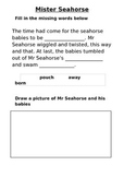 'Mister Seahorse' text activities