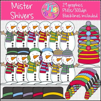 Mister Shivers Snowman Clip Art CU OK