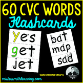 60 CVC Words: Flashcards