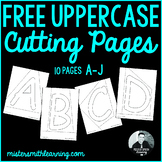 Cutting Pages Printable A-J
