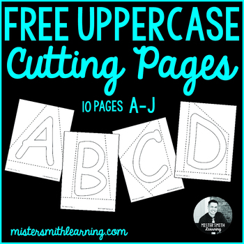 Mister Smith's Cutting Pages Printable A-J