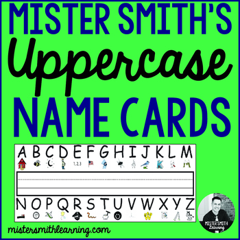 Uppercase Name Cards: Kinder and PreK