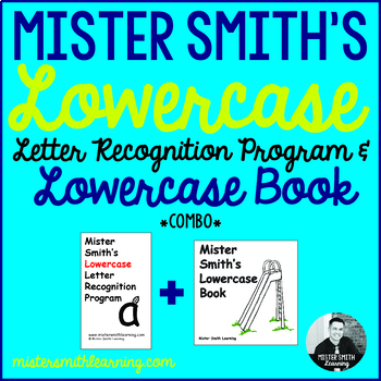 Lowercase Letter Recognition Program and Lowercase Book *Combo Bundle*