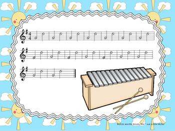 Mister Sun--A Folk Song w/ Orff instrument accompaniment {ta titi rest}