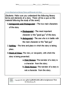 Mister and Me Literature and Grammar Unit