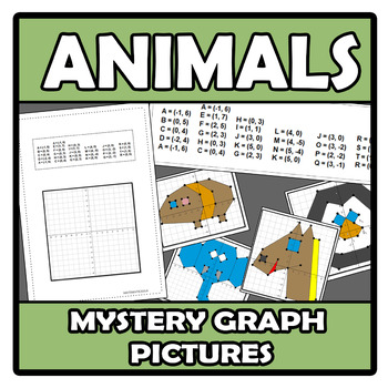 Mistery graph pictures - Dibuja con coordenadas - Animals - Animales